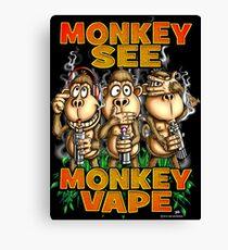 Monkey See Monkey Vape Canvas Print