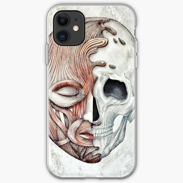 Muscles Bones and Silence Skull Head iPhone Soft Case