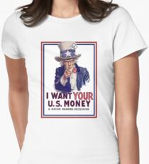Mad Hatter Tea Party Downgrade Women's Fitted T-Shirt