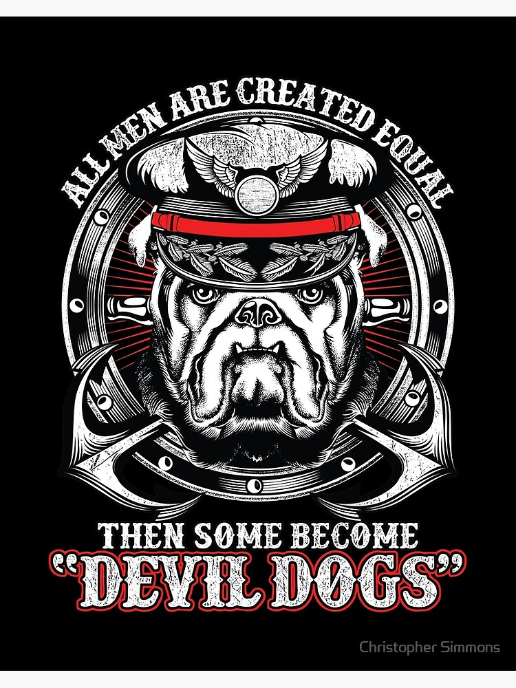 devil dogs art board print by manstrations redbubble devil dogs art board print by manstrations redbubble