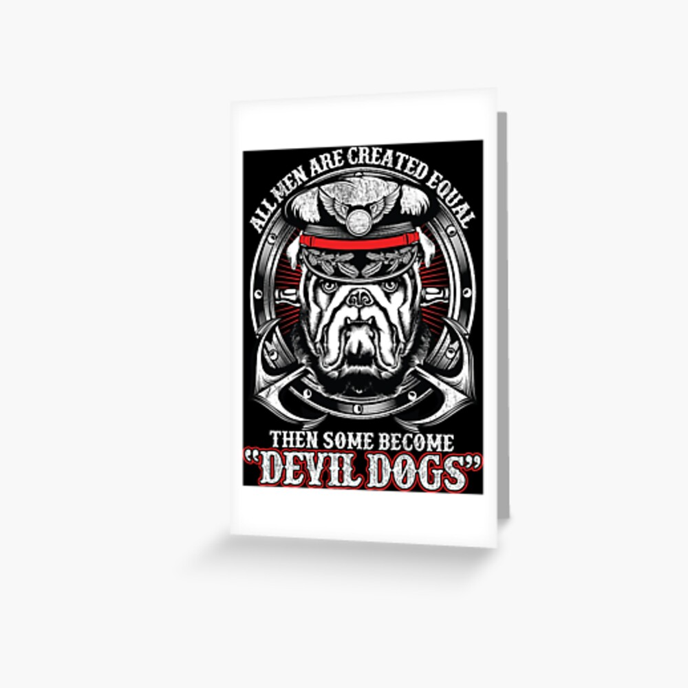 devil dogs greeting card by manstrations redbubble devil dogs greeting card by manstrations redbubble