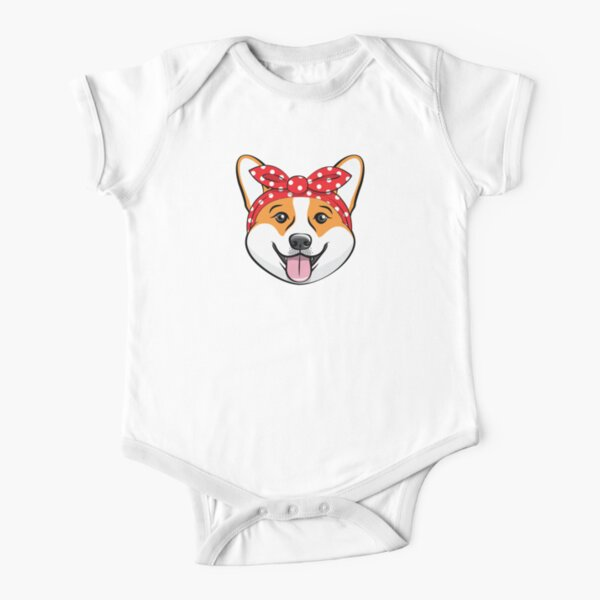 REBELN Keep Calm and Corgi On Cotton Short Sleeve T Shirts For Baby Toddler Infant