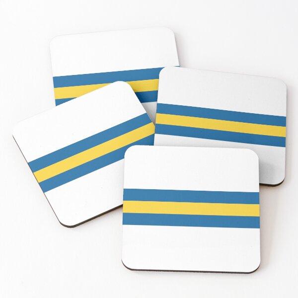 Leeds Utd Stripes Coasters (Set of 4)