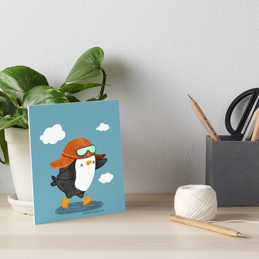 Penguin Aviator Art Board Print