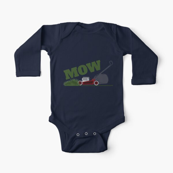 Mowing Long Sleeve Baby One-Piece