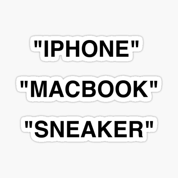 """MACBOOK"" ""IPHONE"" ""SNEAKER"" Sticker Pack Sticker"