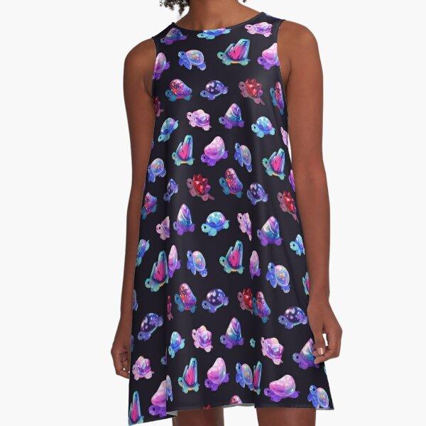 Jewel turtle A-Line Dress