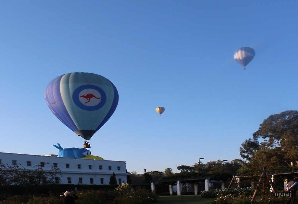A lot of hot air over Canberra by myraj