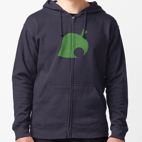 Animal Crossing Leaf Zipped Hoodie