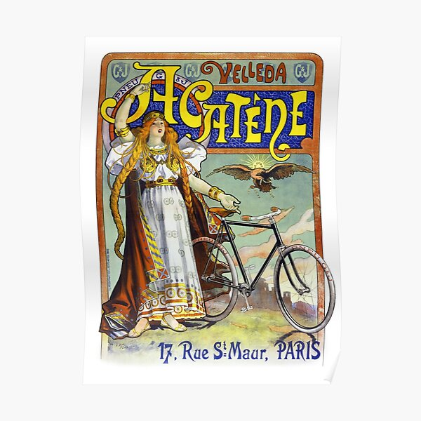 BICYCLE VINTAGE AD POSTER Victoria RARE HOT NEW