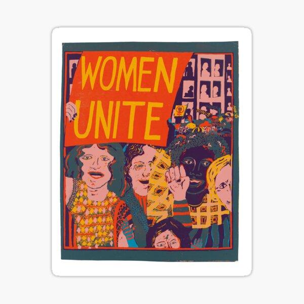 mujeres unen cartel Pegatina