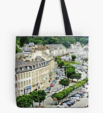 """"""" Looking down from the road deck of the viaduct"""" Tote Bag"""