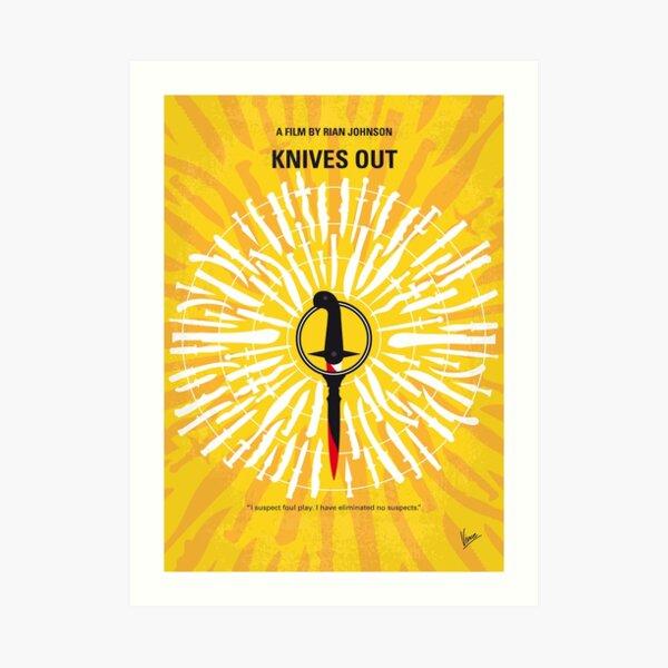 No1155 My Knives Out minimal movie poster Art Print