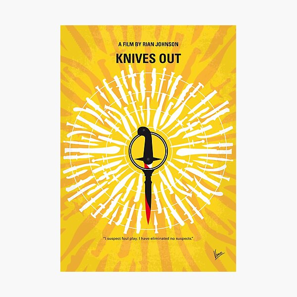 No1155 My Knives Out minimal movie poster Photographic Print