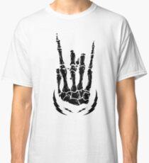 Bone hand skeleton rock sign Classic T-Shirt