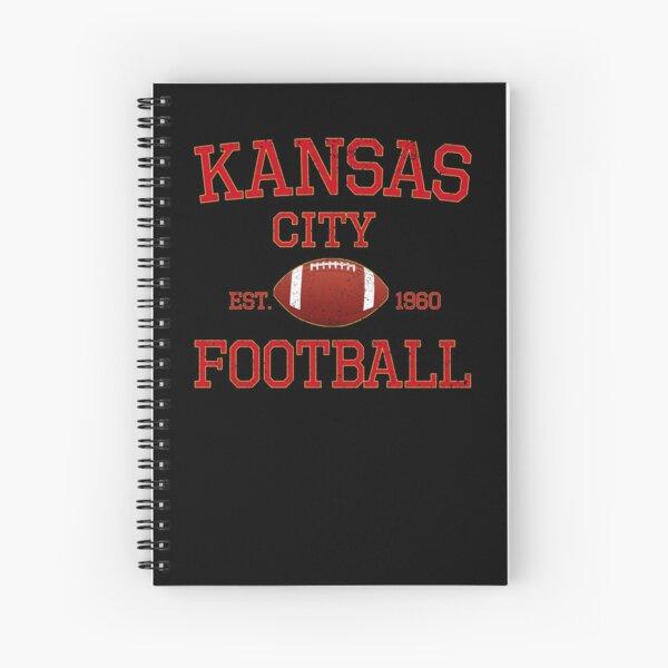 Kansas City Football Classic Distressed Vintage Design Spiral Notebook