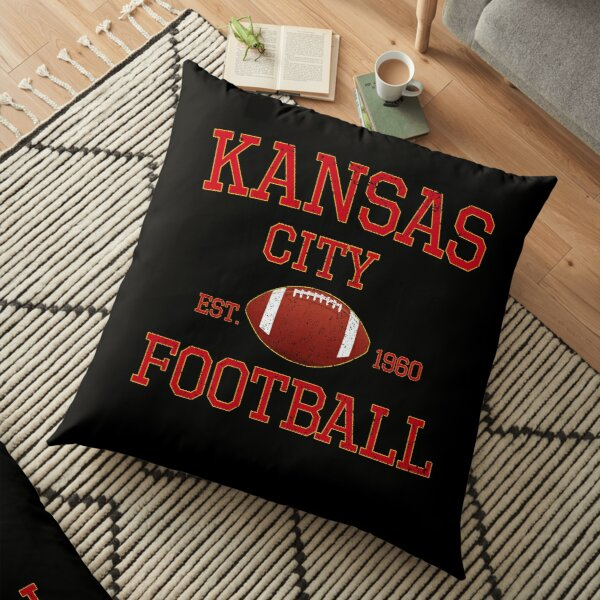 Kansas City Football Classic Distressed Vintage Design Floor Pillow