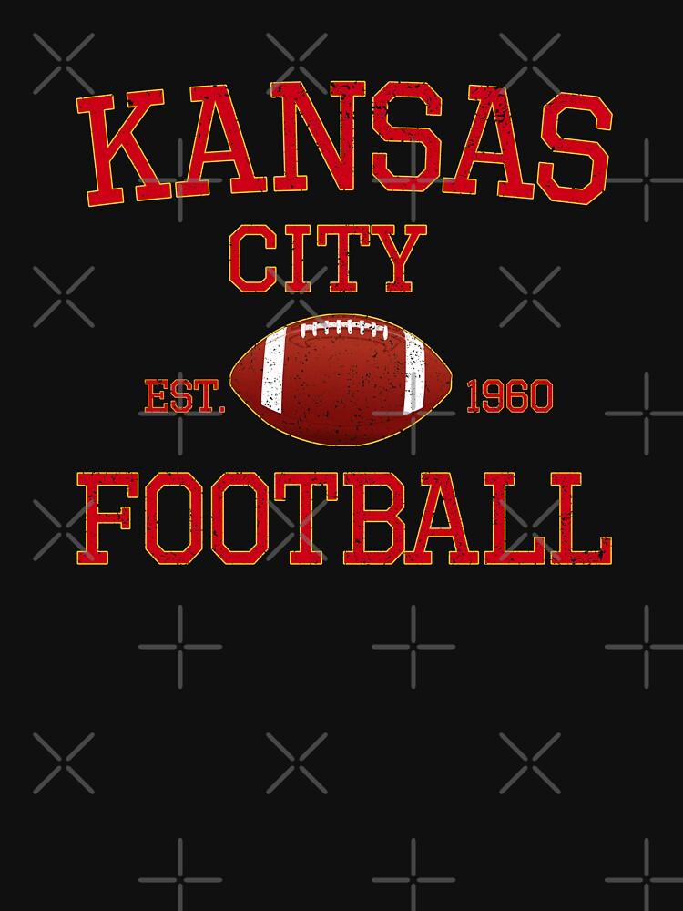 Kansas City Football Classic Distressed Vintage Design by Bullish-Bear
