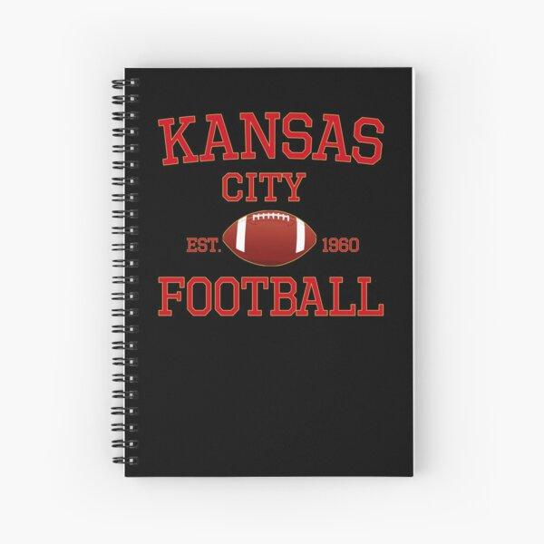 KC Kansas City Originals Vintage Sports Fan Red & Yellow Kc Football Spiral Notebook
