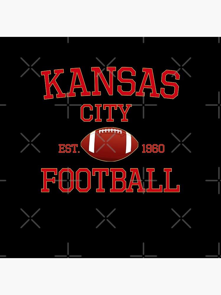 KC Kansas City Originals Vintage Sports Fan Red & Yellow Kc Football by Bullish-Bear