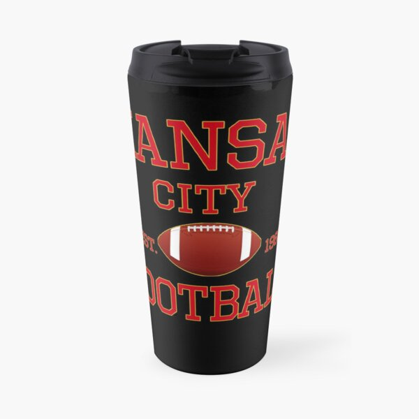 KC Kansas City Originals Vintage Sports Fan Red & Yellow Kc Football Travel Mug