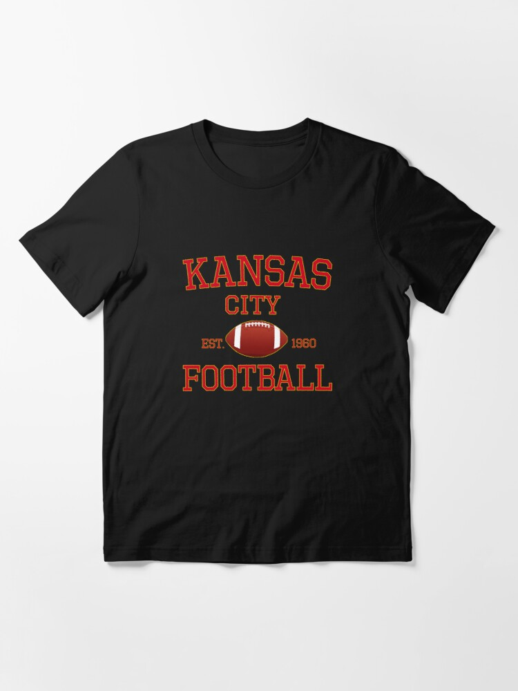 Alternate view of KC Kansas City Originals Vintage Sports Fan Red & Yellow Kc Football Essential T-Shirt