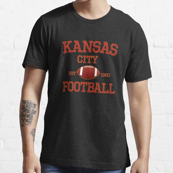 KC Kansas City Originals Vintage Sports Fan Red & Yellow Kc Football Essential T-Shirt