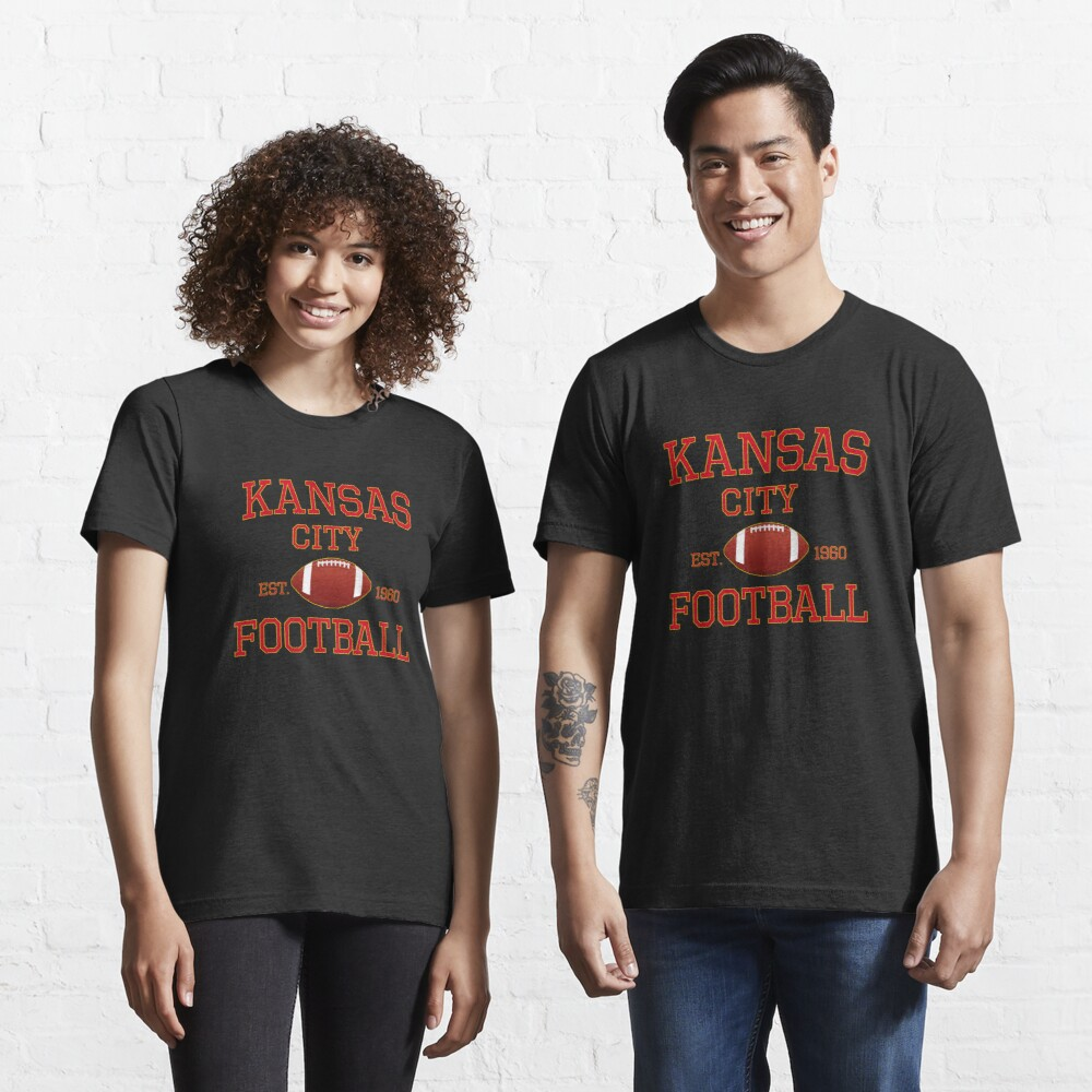 KC Kansas City Originals Vintage Sports Fan Red & Yellow Kc Football Essential T-Shirt