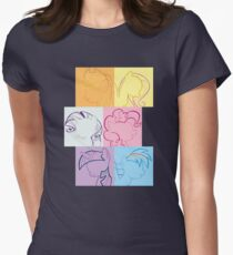 6 Main_squares 1 Womens Fitted T-Shirt