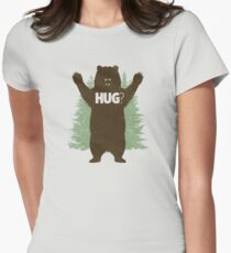 Bear Hug (Light) Women's Fitted T-Shirt