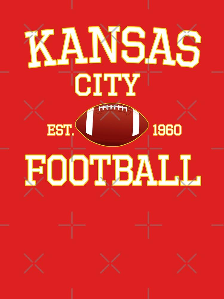 Kansas City Football Fan Red & Yellow Kc Football by Bullish-Bear