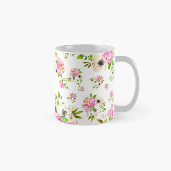 Pink White Flowers Bouquets - Lolita #01 Classic Mug