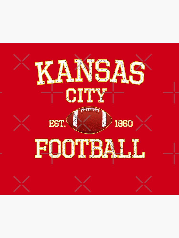 Vintage Classic Kansas City Football Fan Red & Yellow Kc Football by Bullish-Bear