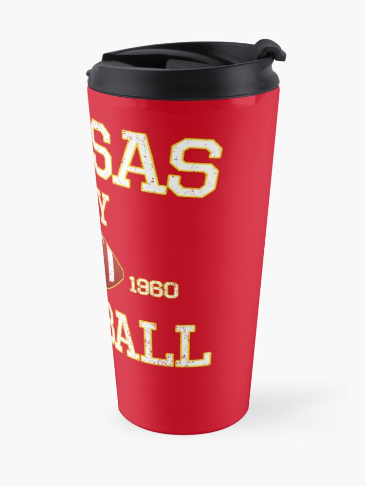 Alternate view of Vintage Classic Kansas City Football Fan Red & Yellow Kc Football Travel Mug