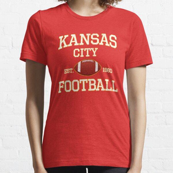 Vintage Classic Kansas City Football Fan Red & Yellow Kc Football Essential T-Shirt