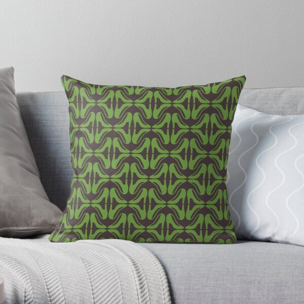 Green shoes Throw Pillow