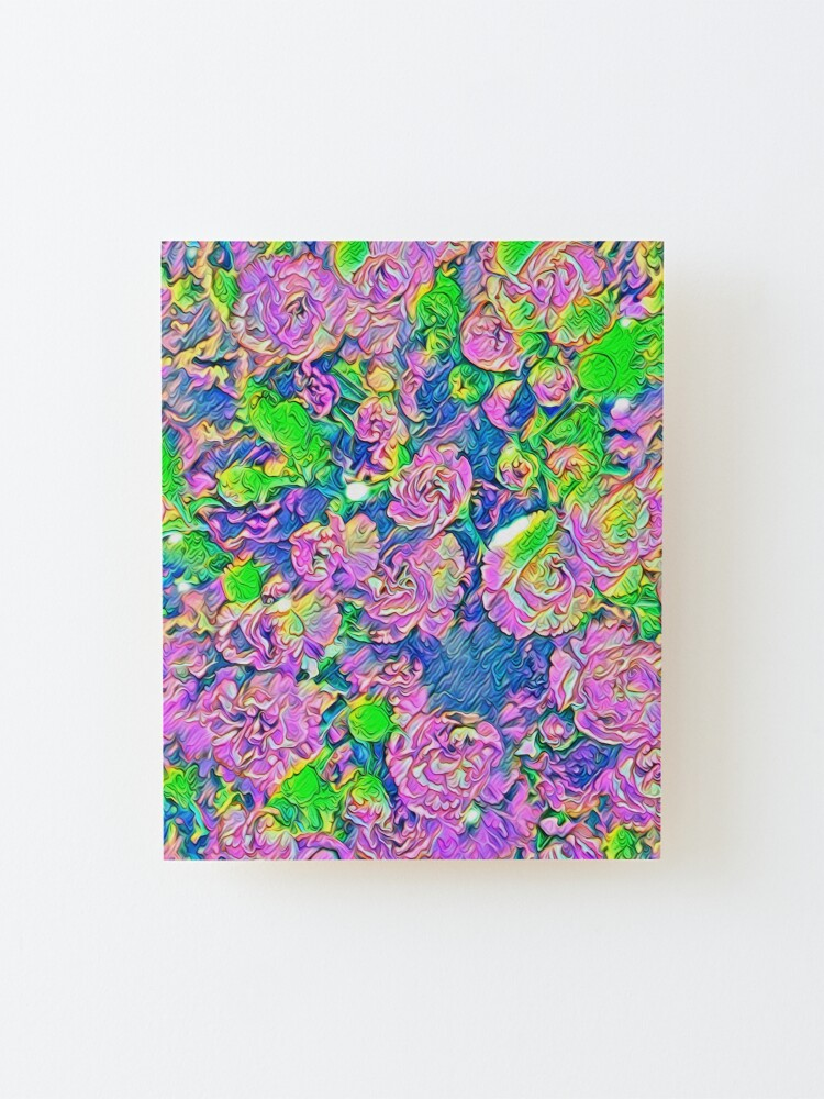 Alternate view of Abstract Flowers Mounted Print