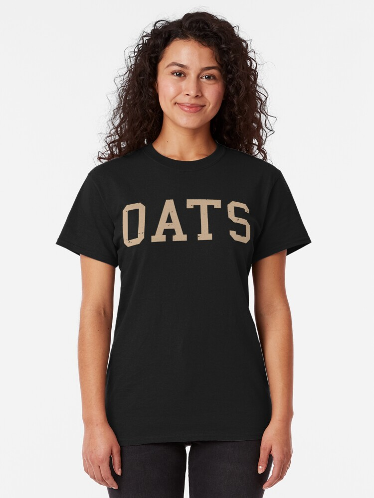 Alternate view of OATS in cool college design font for all oat fans Classic T-Shirt