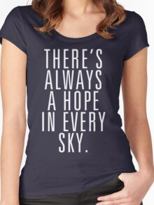 There's Always A Hope In Every Sky Women's Fitted Scoop T-Shirt
