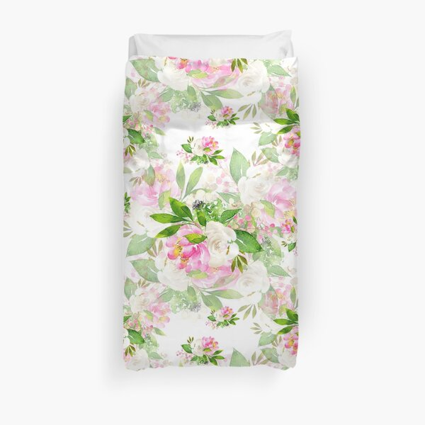 Pink White Flowers Bouquets - Lolita #03 Duvet Cover