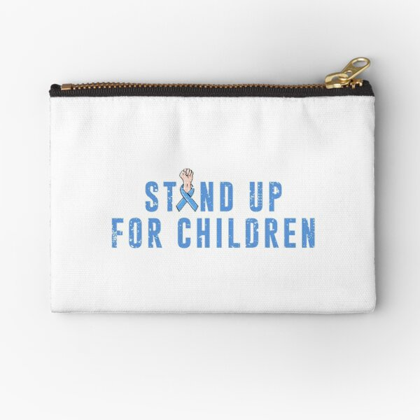 Child Abuse Prevention Support Zipper Pouch