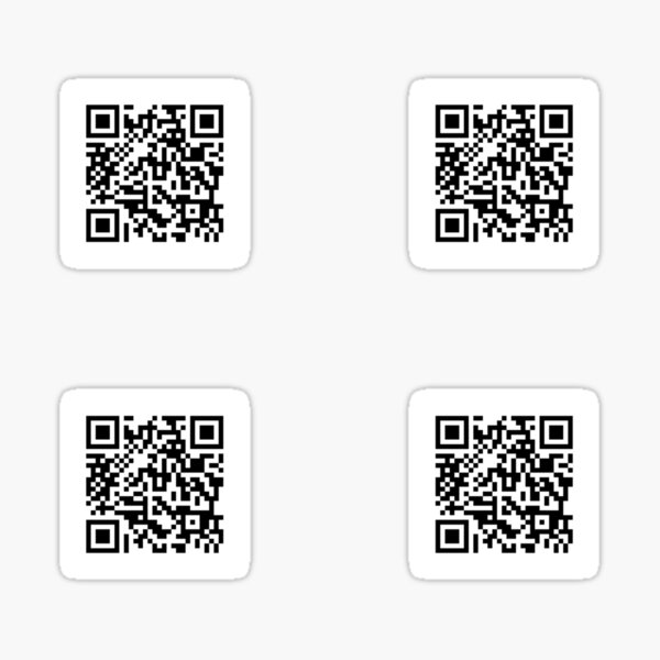 Rick roll QR code x 4 Sticker