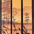 Barn Owl sunset. by Robert David Gellion