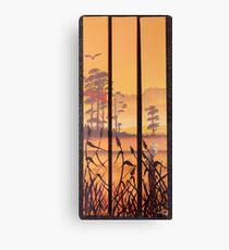 Barn Owl sunset. Canvas Print