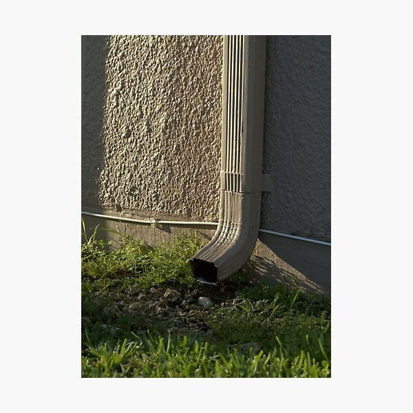 Downspout in the Morning Light Photographic Print