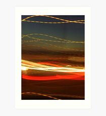 Ribbon light sunset  Art Print