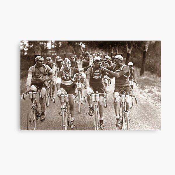 Intimate Portrait of the Tour De France 1920s Canvas Print