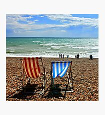 Red Chair - Blue Chair Photographic Print