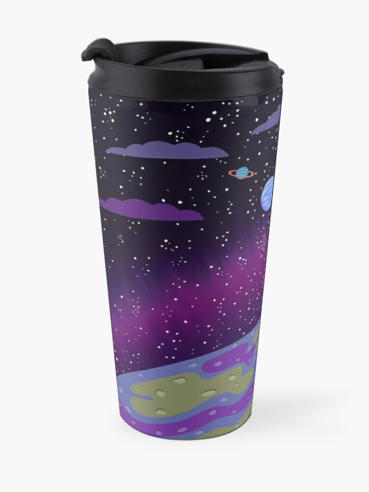 Alternate view of Rick and Morty - Planets Travel Mug