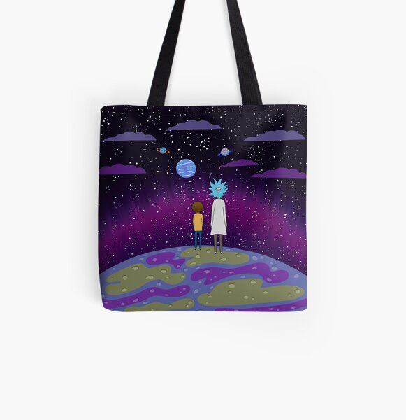 Rick and Morty - Planets All Over Print Tote Bag